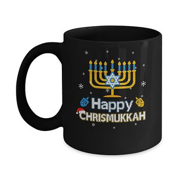 Happy Chrismukkah Ugly Hanukkah Christmas Sweater Mug