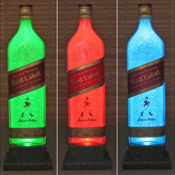 Johnnie Walker Red Label Whiskey Remote Control Color Changing LED Bottle Lamp Light