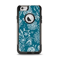 The Blue & White Floral Sketched Lace Patterns v21 Apple iPhone 6 Otterbox Commuter Case Skin Set