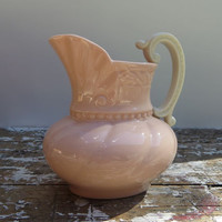 Pink Lenox Pitcher Lenox Creamer Shabby Decor Pink Kitchen Colonial Pattern Lenox Green Stamp