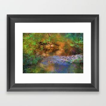 Fantasy Lake Stream Framed Art Print by Theresa Campbell D'August Art