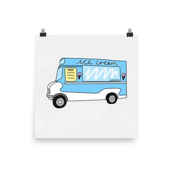 Ice Cream Van Print