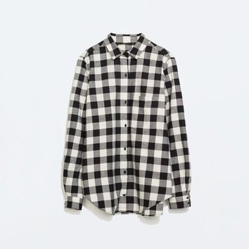Checked shirt with pocket