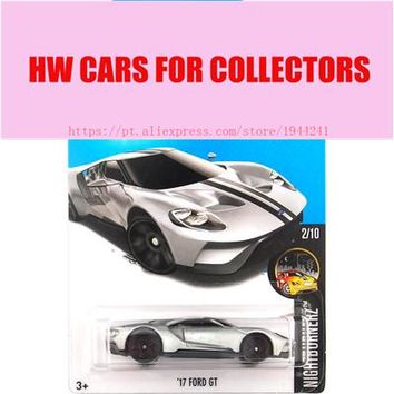 2017 Hot Wheels 1:64 Sliver 17 Ford GT Metal Diecast Cars Collection Kids Toys Vehicle For Children Juguetes