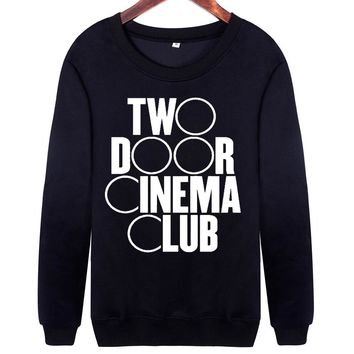 2017 Autumn Clothing Casual Sweatshirt Women 'TWO DOOR CINEMA CLUB' Letters Printed Harajuku Long Sleeve Black Pullovers tops