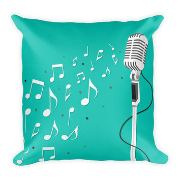 Music Pillow, music decor, Music Bedding, Music Room Decor, Musician Gift, Decorative Pillows, music decor, Music Gift, music teacher