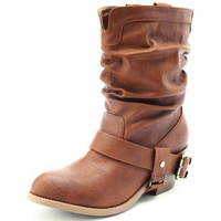 Charlotte Russe - Low-Harness Slouch Boot