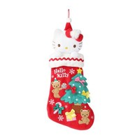 Hello Kitty Holiday Stocking with Plush: Holly Red