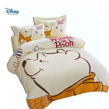 Cool disney winnie the pooh duvet cover 3d comforter bedding set king queen twin full size 100% cotton cartoon linens boy girl decorAT_93_12