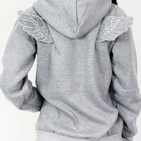 Hoodie - Little wings - Sweaters & Cardigans - Women - Modekungen