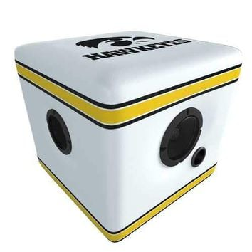 Rainmaker Iowa Hawkeyes Bluetooth Speaker Ottoman-White/Blk