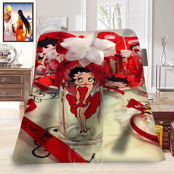 Betty Boop NEW  Custom Home Decoration Bedroom Supplies Soft Fleece Blanket