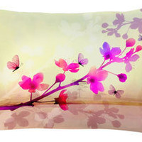 digitally printed silk lilly pillow - ABC Carpet & Home