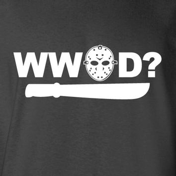 What Would Jason Do Halloween Costume Funny T-Shirt Tee Shirt T Shirt Mens Ladies Womens Modern Spooky Nerd Geek Witch Jesus ML-030