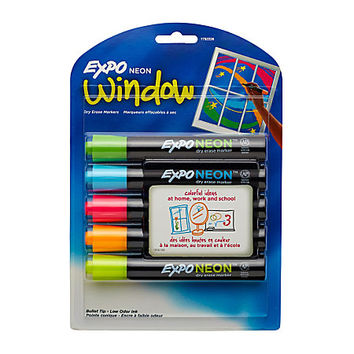 EXPO® Neon Dry Erase Markers, Assorted, Pack Of 5 Item # 124902