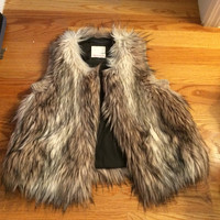 Faux Fur Vest Rebecca Taylor small by Gigi Reed