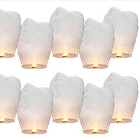 3pcs White Paper Chinese Lanterns Fire Sky Fly Candle Lamp for Birthday Wish Party Wedding Decoration = 1933082308