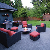 4 Foot Circular You-Design-It Custom Made Fire Pit Table
