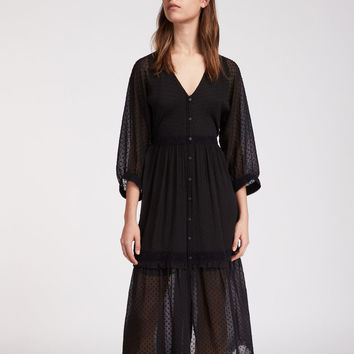 ALLSAINTS CA: Womens Palma Polka Dress (black)