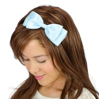 Alice in Wonderland Hair Bow Headband Light Blue Birthday Party Cute Women Teens