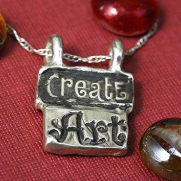 Create Art Necklace in Sterling Silver by rockmyworldinc on Etsy