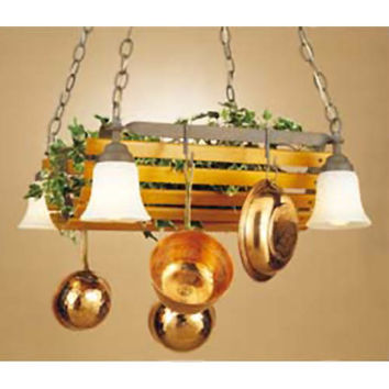 Hi-Lite H-9144-D-82 Oakridge Lighted Pot Rack