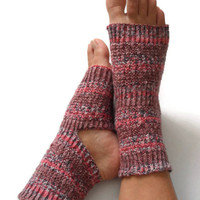 Yoga Socks Hand Knit in Purple Spice Pedicure Pilates Dance