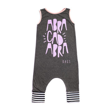 "Rags to Raches ""Abracadabra"" Tank Romper - Charcoal"