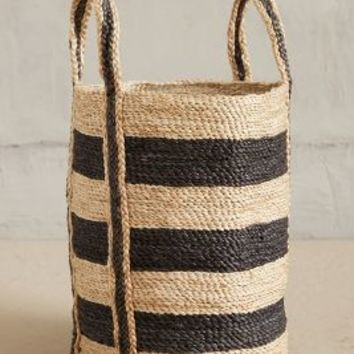Lost & Found Woven Stripe Basket Grey One Size House & Home