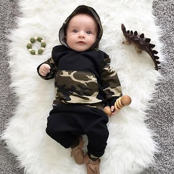 Toddler Infant Baby Boy Clothes Set Camouflage