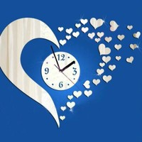 DCCKIX3 Acrylic Mirror Diy Quiet Wall Sticker Creative Clock [4918619716]