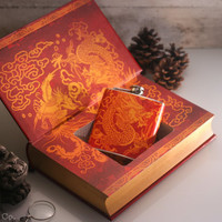 Hollow Book Safe and Hip Flask - Art of War (LEATHERBOUND)