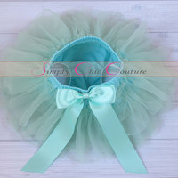 Aqua Blue & Lavender Baby Tutu Bloomer, Bloomers and Headband, Chiffon Baby Bloomers, Newborn Photo Prop, Baby Bloomers, Diaper Cover