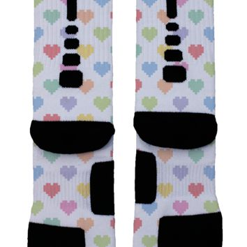 Multi-Hearts Custom Nike Elite Socks