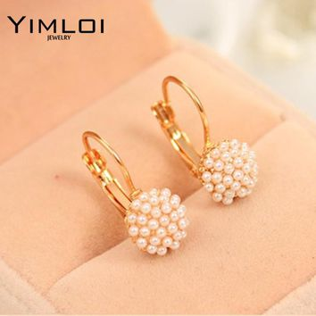 578b3c19a4 BB New Fashion Hot Lovely Wedding Ear Cuff Gold Color Round Imit