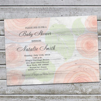 Printable Baby Shower Invitations Floral Baby Shower Invitation Editable Baby Shower Invitation Baby Shower Invites (L9) Free Thank You Card