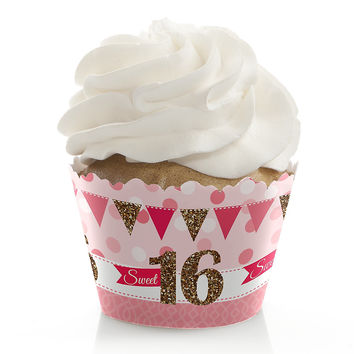 Sweet 16 - Birthday Party Cupcake Wrappers