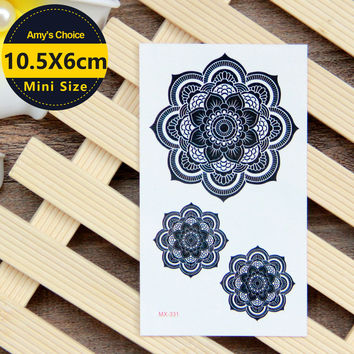 Waterproof Temporary Tattoo Sticker sexy lotus mandala totem tattoo Water Transfer fake tattoo flash tattoo for girl women