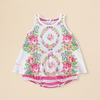 Ralph Lauren Childrenswear Infant Girls' Floral Tank & Ruffled Bloomers Set - Sizes 3-24 Months
