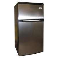 Sunpentown Double Door Compact Fridge - Stainless Steel