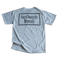 SURFBOARDS HAWAII RECTANGLE S/S T-SHIRT WHITE MED