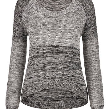 silver jeans co. ® marled pullover sweater