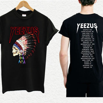 yeezus shirt yeezus indian skeleton yeezus tour shirt kanye west 4
