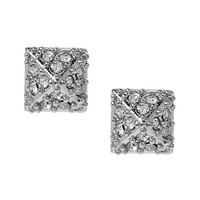 Banana Republic Womens Sparkle Pyramid Stud Earring Size One Size - Silver