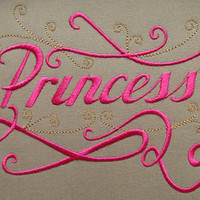 Princess Embroidery Design Instant Download