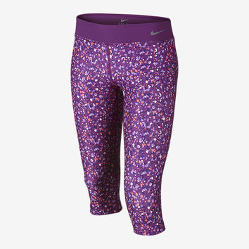 The Nike Legend 2.0 Allover Print Tight Girls' Training Capris.
