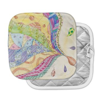 """Catherine Holcombe """"The Painted Quilt"""" Pot Holder"""