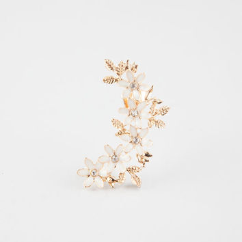 Full Tilt Flower Ear Cuff Gold One Size For Women 26388562101
