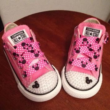 Pink Minnie Mouse Pearl Converse