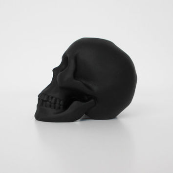 Skull Candle Holder Black Human Skull Skull by hodihomedecor